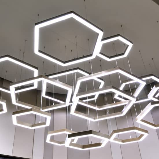 bespoke lighting shape hexagon