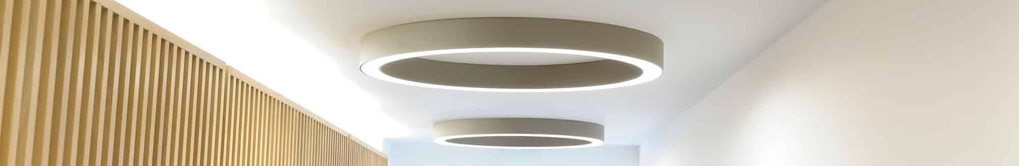 circular lighting for hallways