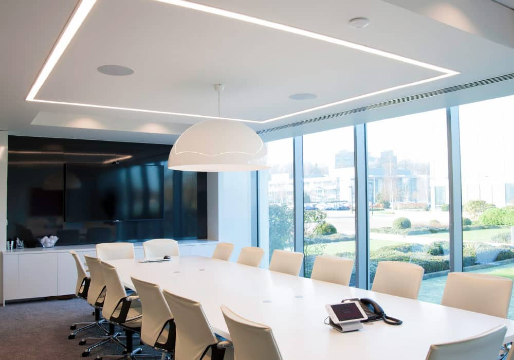 The Recessed System installed in an office.