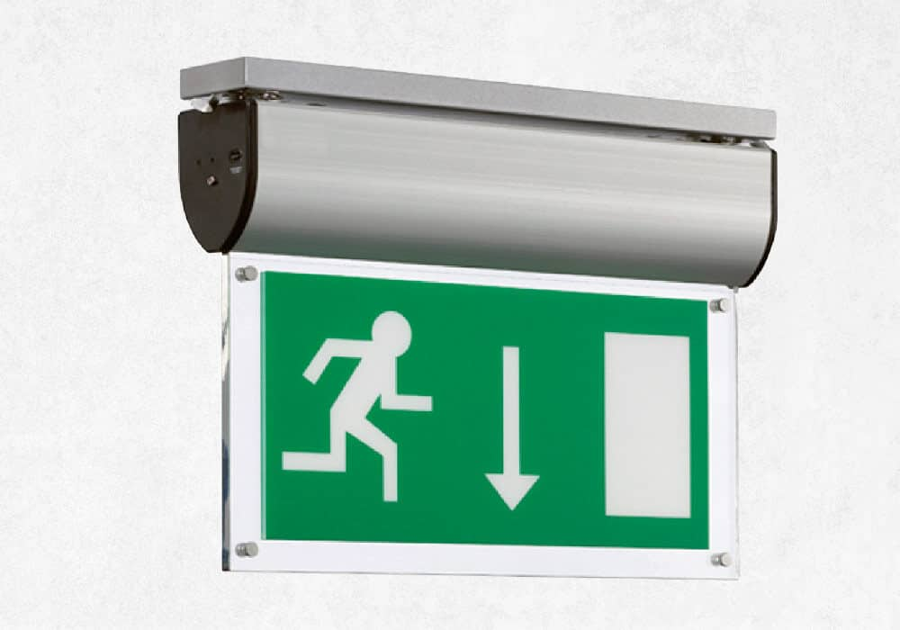 LED Exit sign for emergency lighting.