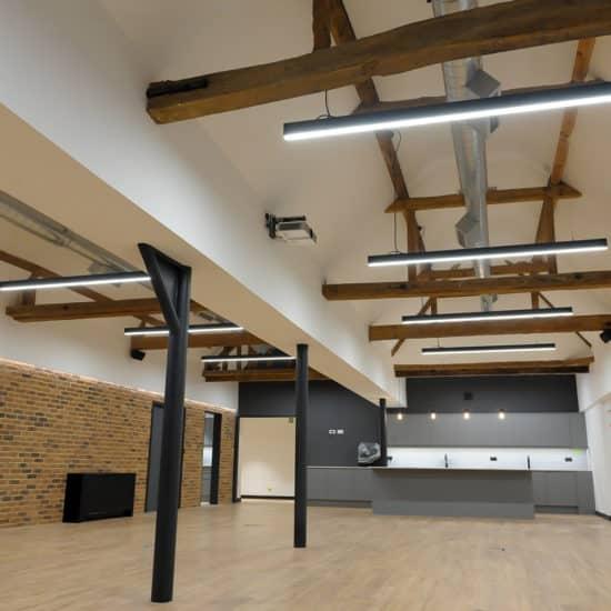 black linear lighting system
