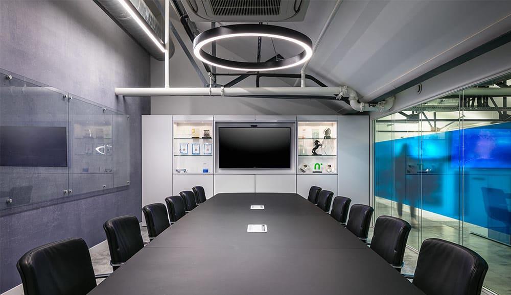 bespoke halo lighting for meeting room