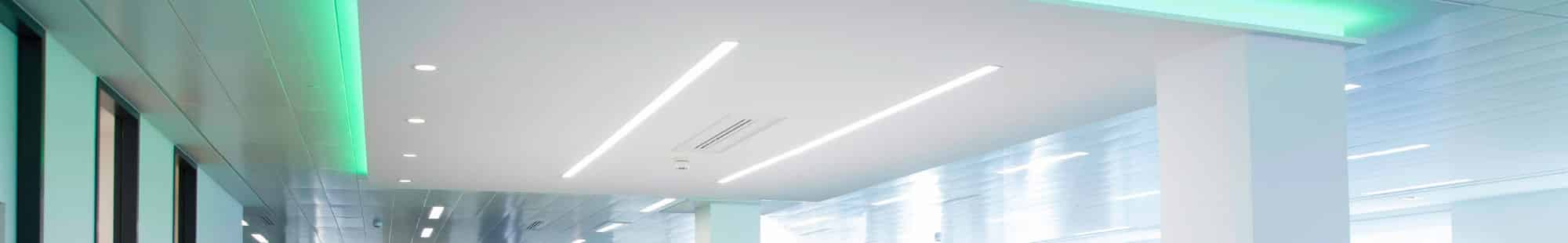 recessed linear office lighting