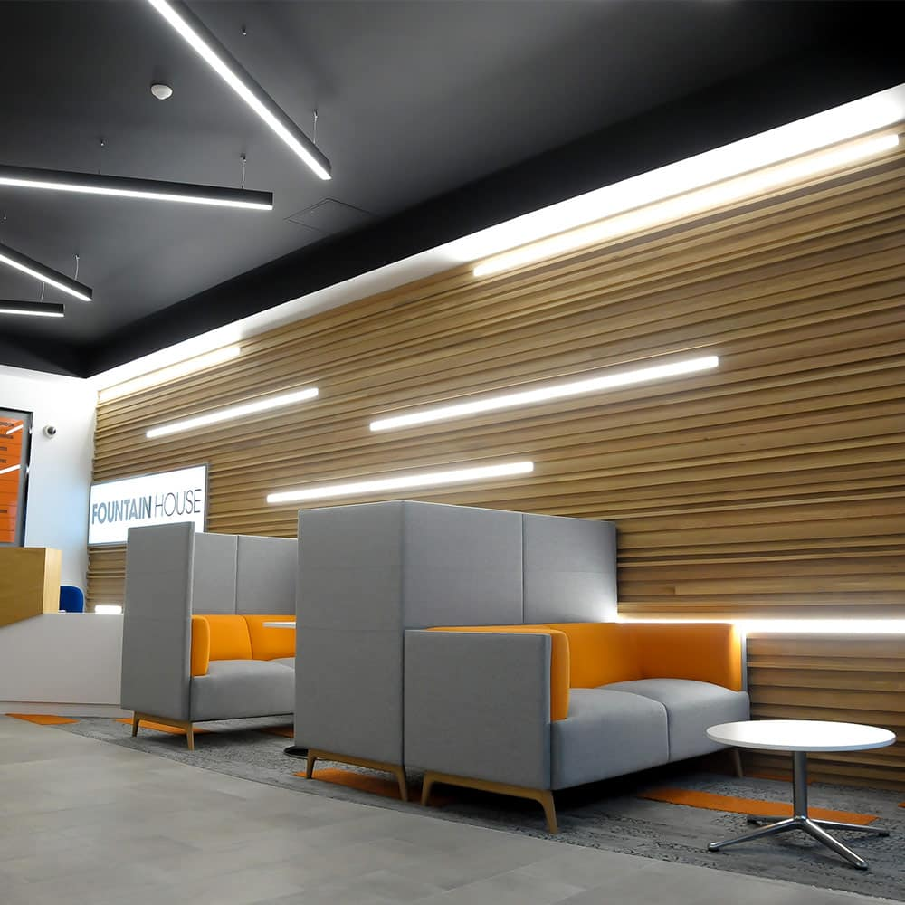 Bespoke lighting provided for workspace in reading.
