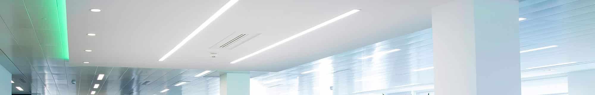 linear lighting installation