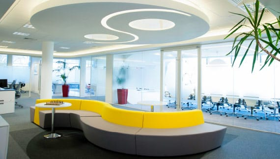 bespoke lighting for reception areas
