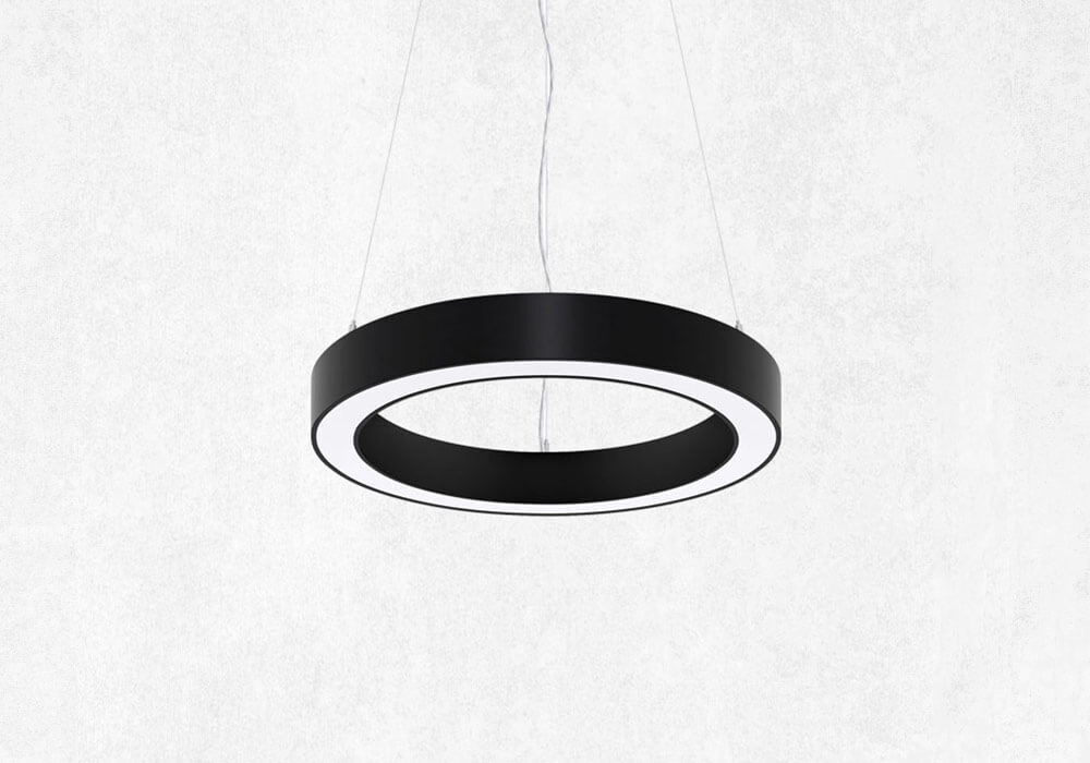 Halo product illustration. Shown in suspended lighting form.