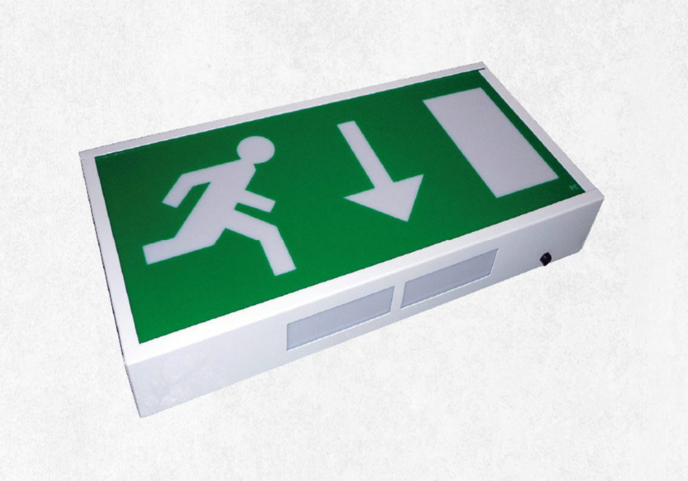Emergency lighting exit box - Sortie