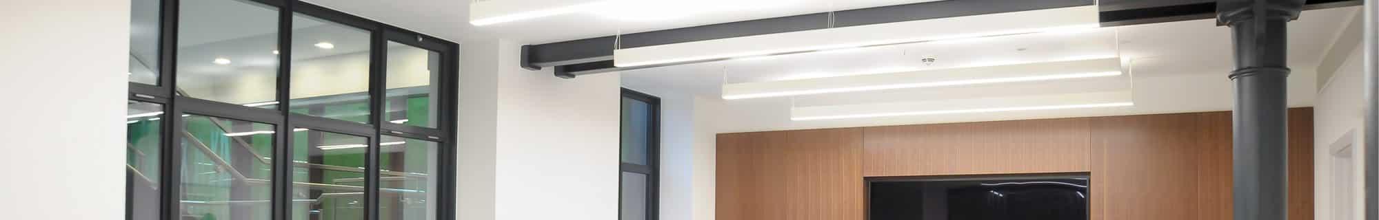 suspended lighting installation