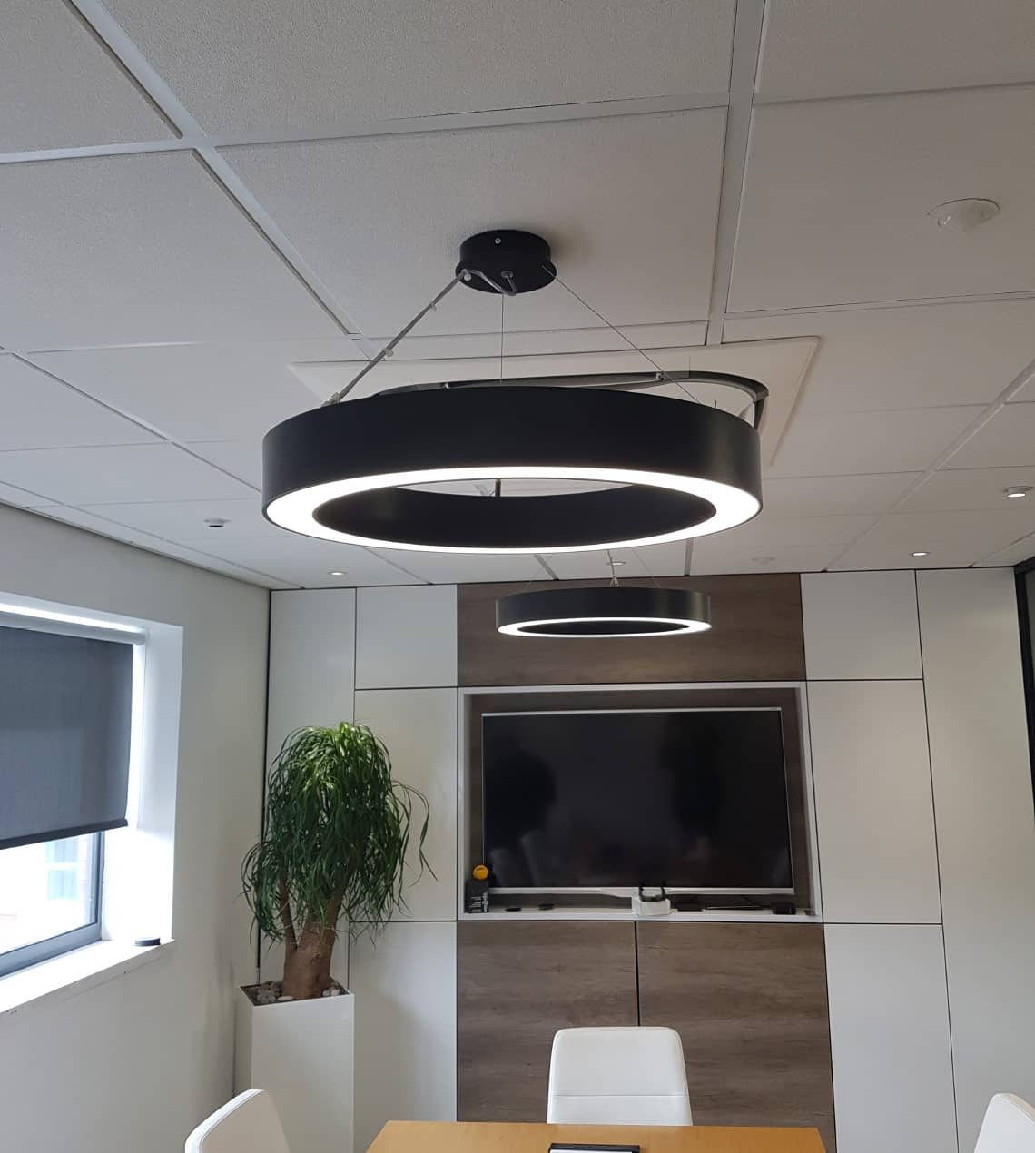 suspended commercial halo lighting