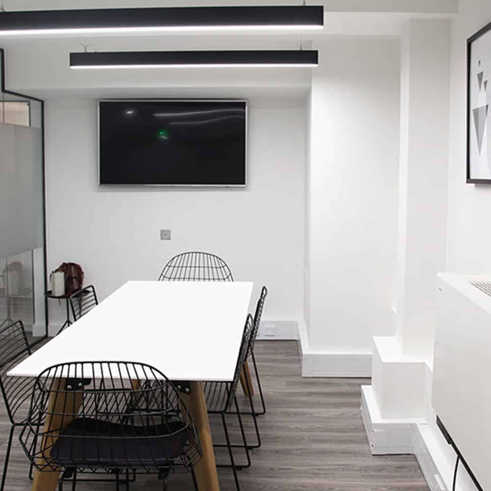 Compliant lighting provided for office in London.