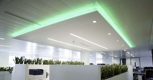 Feature office lighting,