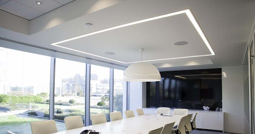 modern lighting feature office