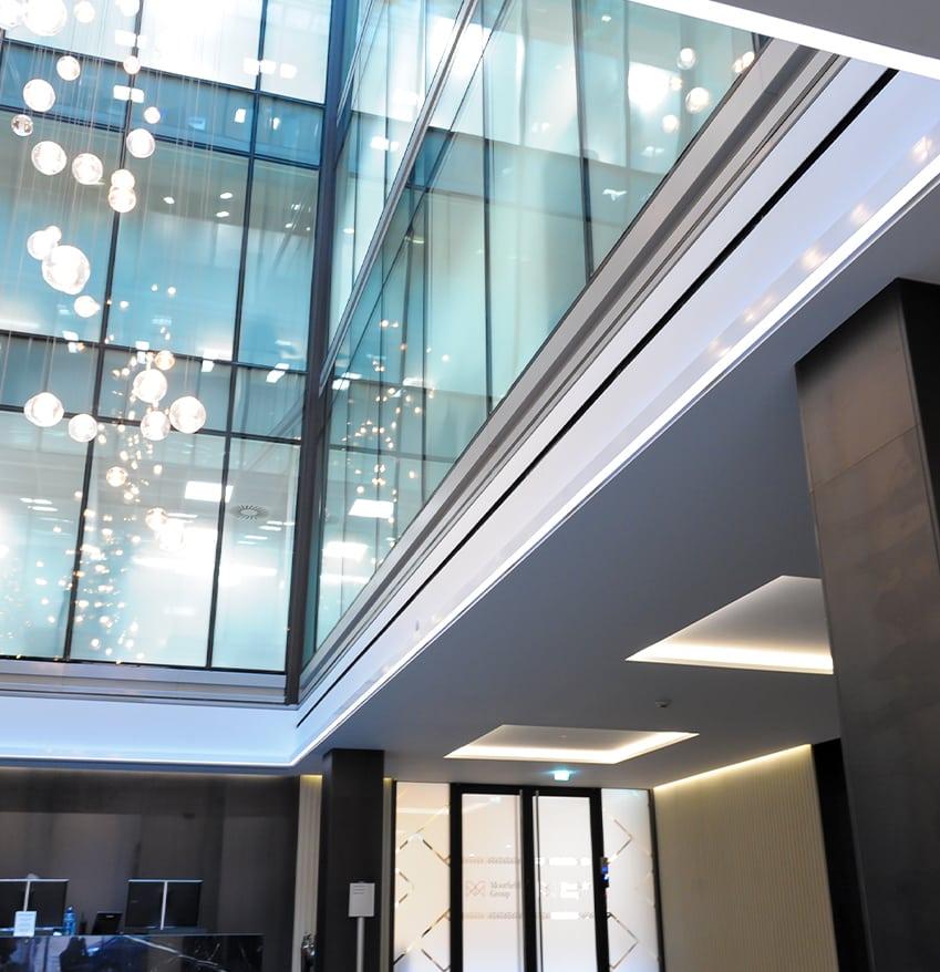 Recessed LED Rectangle Atrium Lighting