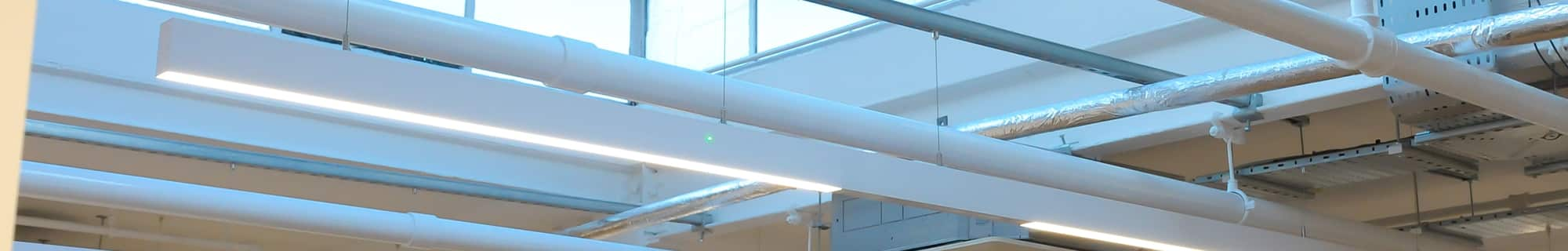 Suspended Linear LED with Integral Emergency