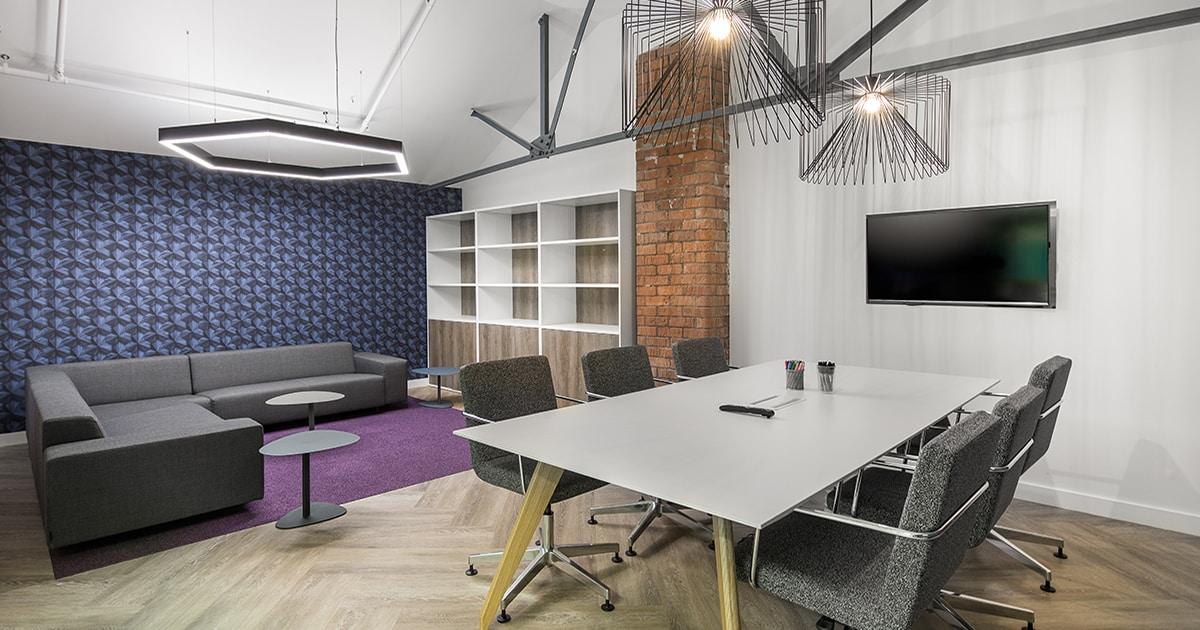 bespoke LED hexagon lighting offices