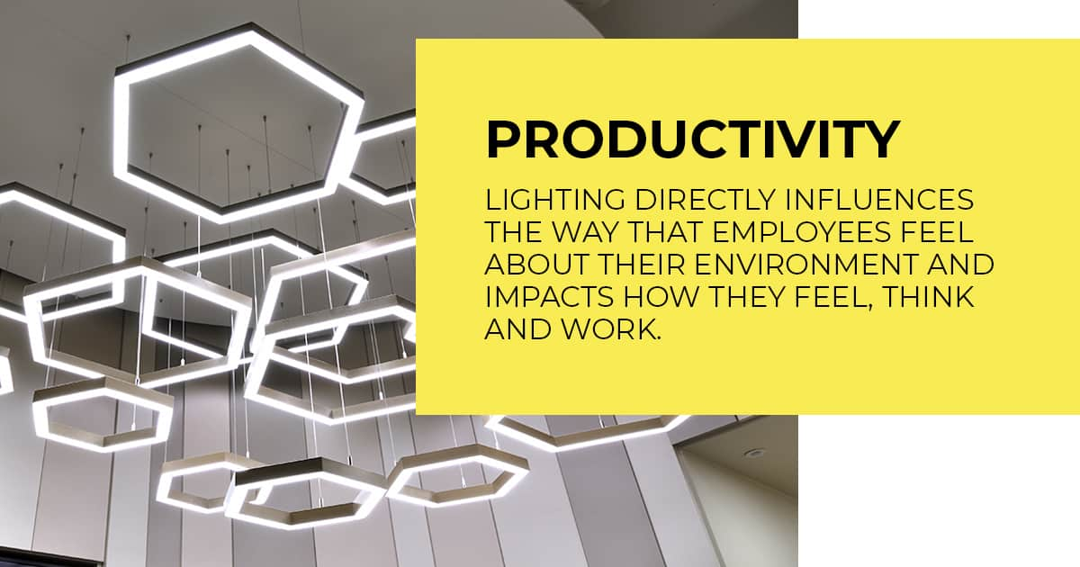 how does lighting improve productivity