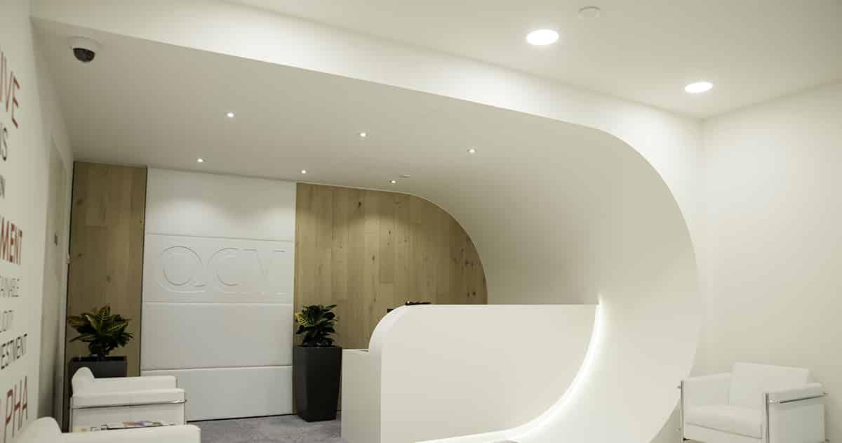 reception led lighting